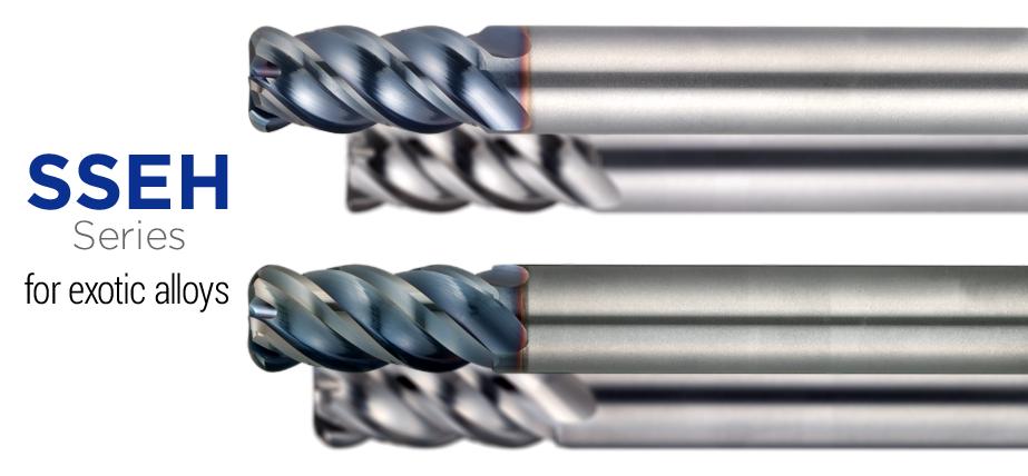SSEH 系列 - 适用于难切削合金的圆角立铣刀