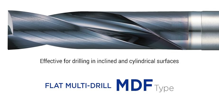 Flat MultiDrill MDF - Solid carbide drill for cylindrical surfaces