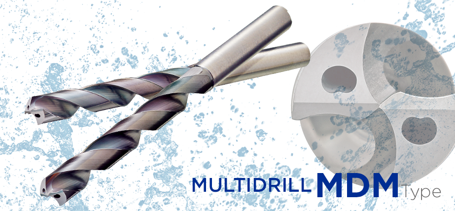 MDM series - Coated carbide drills for stainless steel
