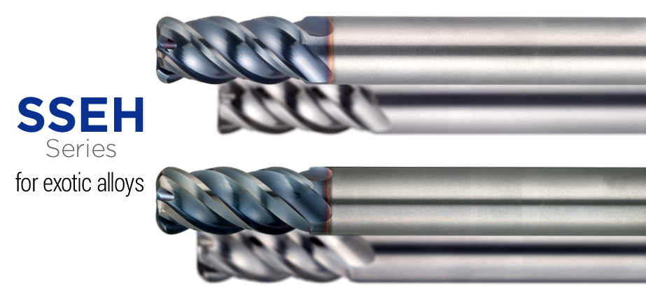 SSEH series - Radius endmill for exotic alloys